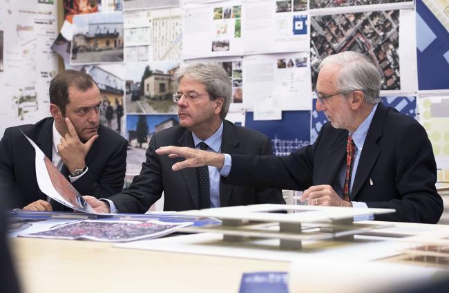 Gentiloni incontra Renzo Piano