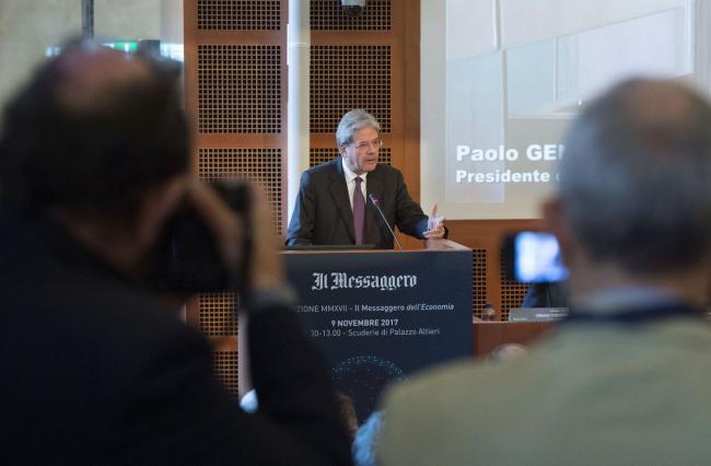 """Gentiloni al convegno """"Obbligati a crescere - l'Europa dopo Brexit"""""""