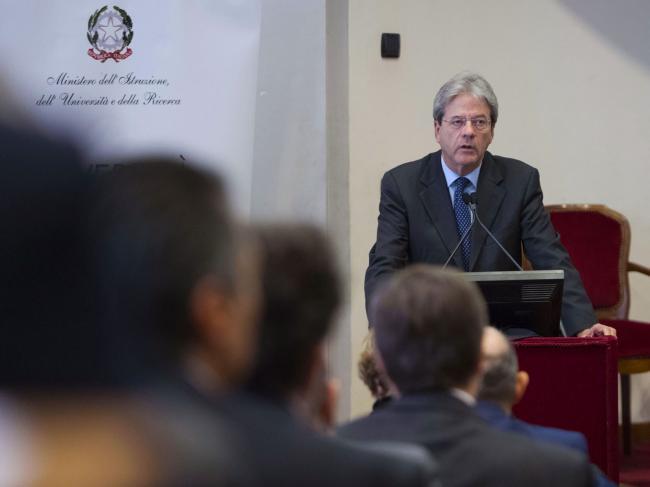 """Gentiloni alla giornata di discussione """"L'Università italiana nell'Europa di domani"""""""