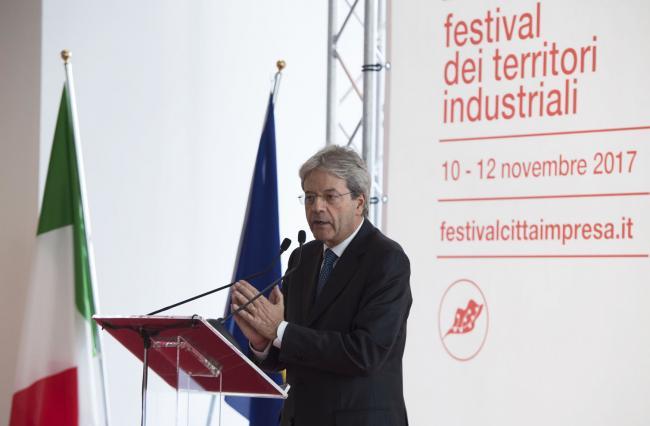 Gentiloni interviene al Festival Città Impresa