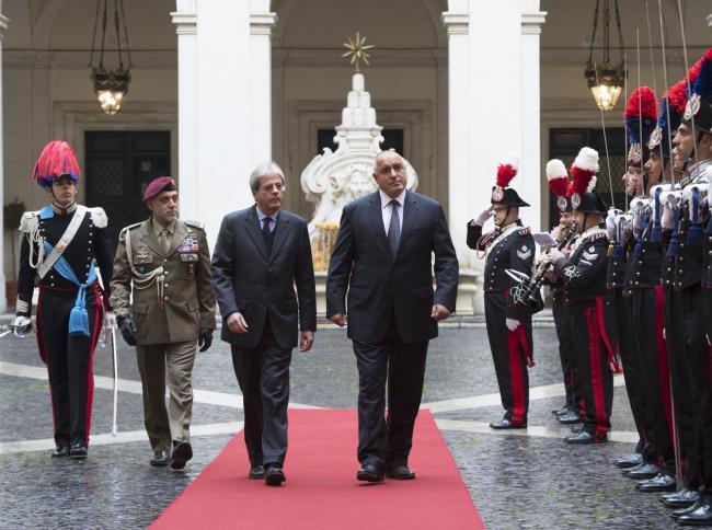 Gentiloni riceve il Primo Ministro bulgaro Borissov