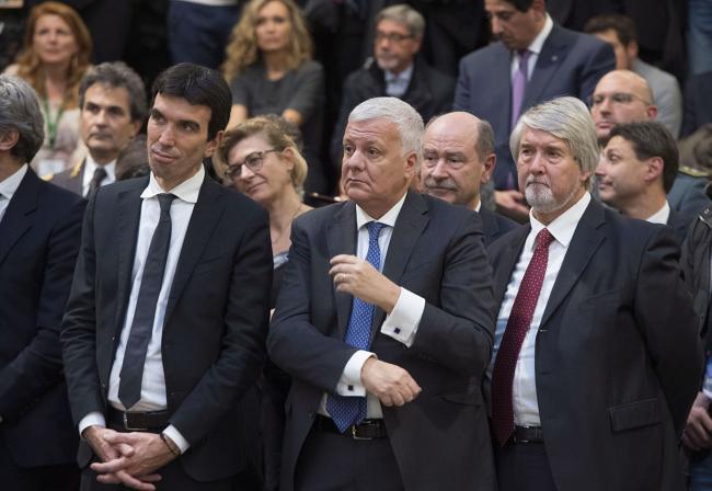 I Ministri Martina, Galletti e Poletti all'inaugurazione di Fico Eataly World