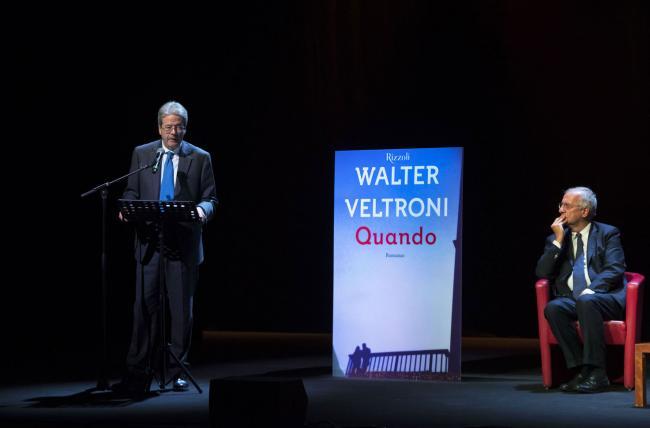 Gentiloni interviene alla presentazione del romanzo di Walter Veltroni