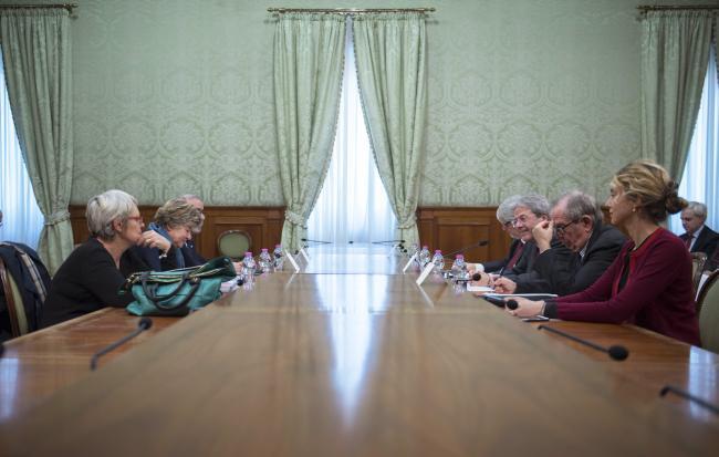 Incontro Governo - Sindacati a Palazzo Chigi