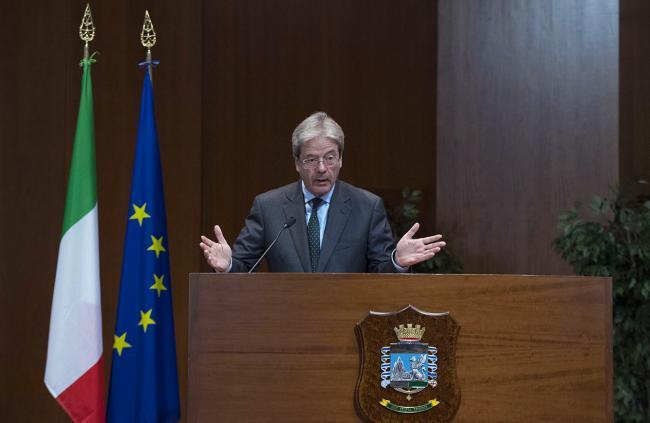 Il Presidente Gentiloni interviene all'inaugurazione dell'Anno di studi della Guardia di Finanza