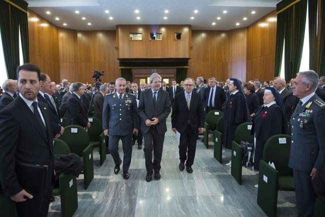 Il Presidente Gentiloni all'inaugurazione dell'Anno di studi della Guardia di Finanza