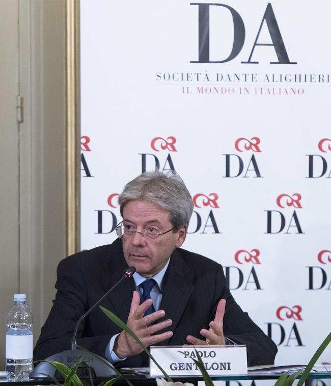"""Il Presidente Gentiloni interviene all'incontro """"Italsimpatia, italofonia: dal brand alla lingua"""""""
