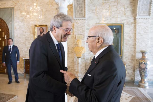 Gentiloni incontra il Presidente della Repubblica tunisina