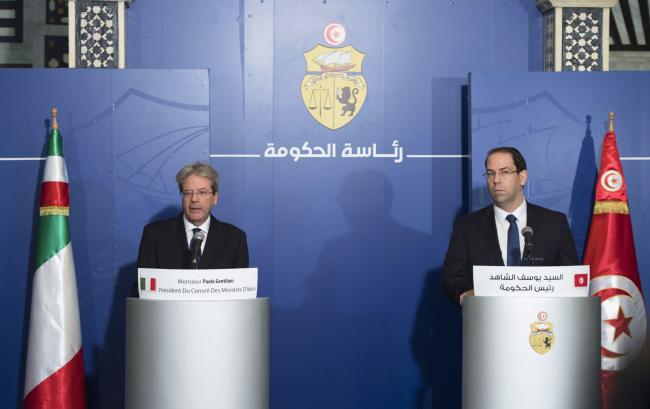 Gentiloni incontra il Primo Ministro tunisino Youssef Chahed