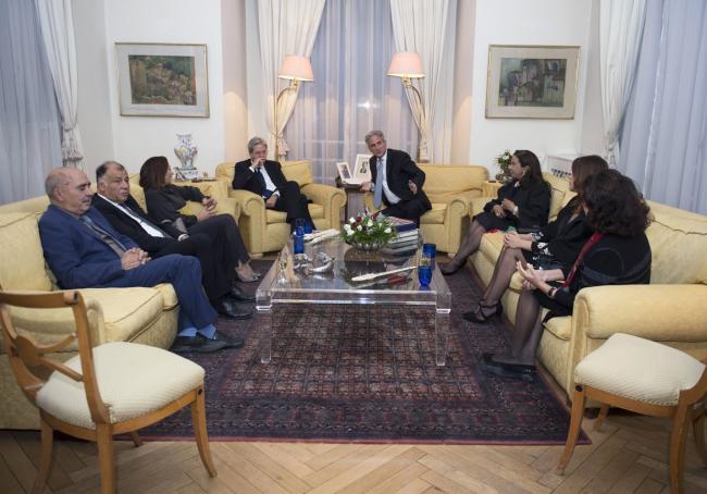 """Gentiloni incontra i rappresentanti del """"Quartetto per il dialogo nazionale tunisino"""""""