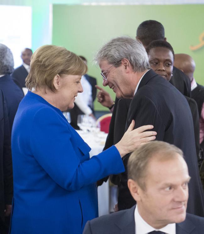 Gentiloni, Merkel e Tusk
