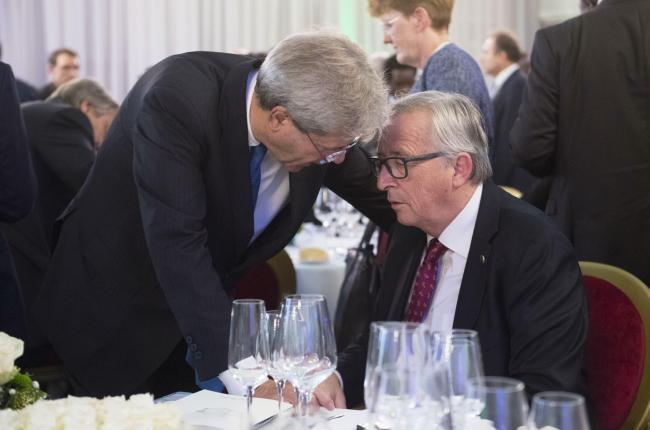 Gentiloni con il Presidente della Commissione Europea