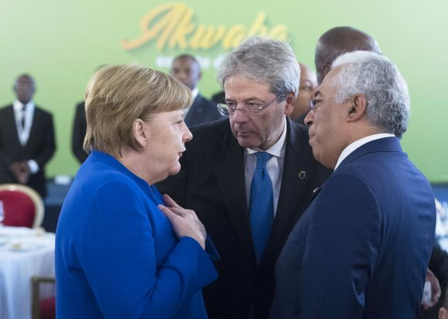 Gentiloni, Merkel e Costa
