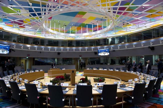 La sala del Consiglio europeo
