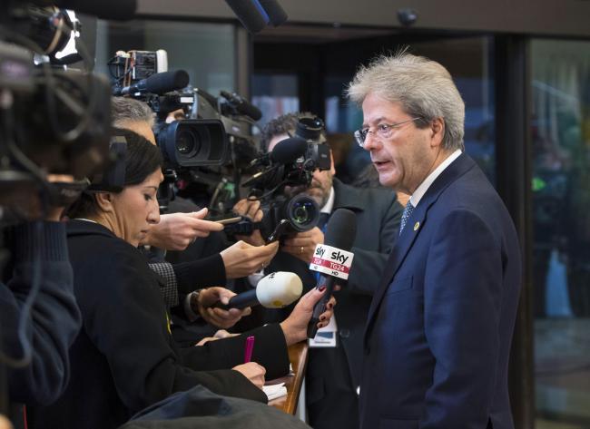 Consiglio europeo, punto stampa del Presidente Gentiloni