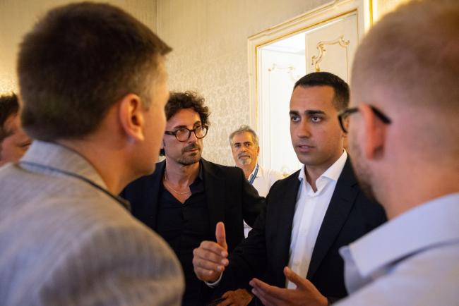 Genova, il Vice Presidente Di Maio con il Ministro Toninelli in Prefettura