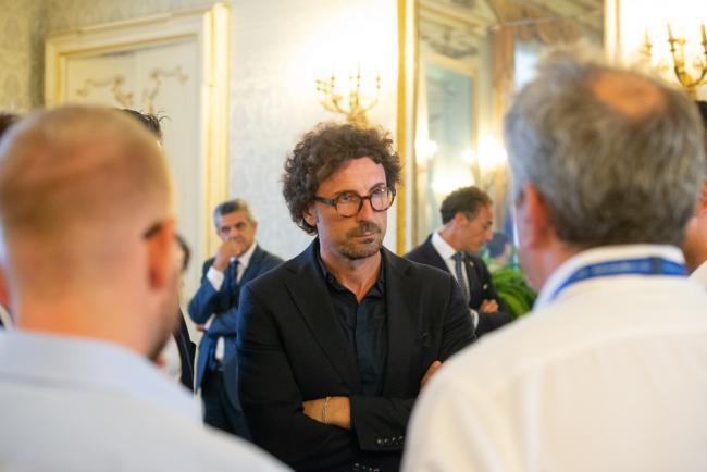 Genova, il Ministro Toninelli in Prefettura
