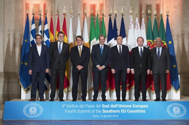 4° Vertice dei Paesi del Sud dell'Ue, la foto di famiglia