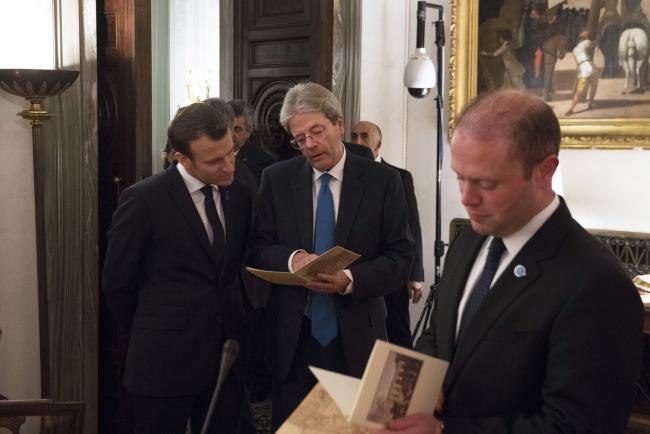 Gentiloni, Macron e Muscat al Vertice dei Paesi del Sud dell'Ue a Villa Madama