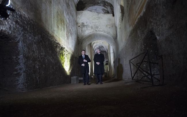 Gentiloni e Macron alla Domus Aurea