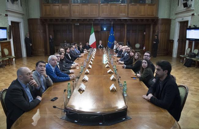 Gentiloni alla presentazione del progetto di trasformazione digitale della Pubblica Amministrazione