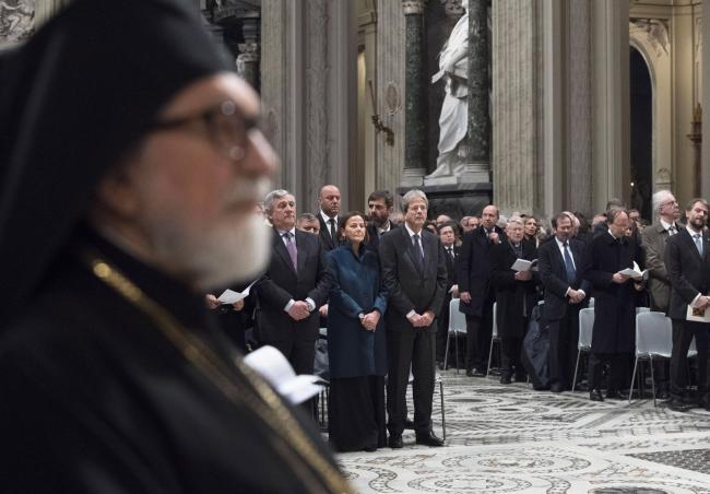Gentiloni alla celebrazione dei 50 anni della Comunità di Sant'Egidio