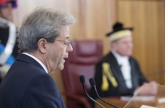 Il Presidente Gentiloni interviene alla Corte dei Conti
