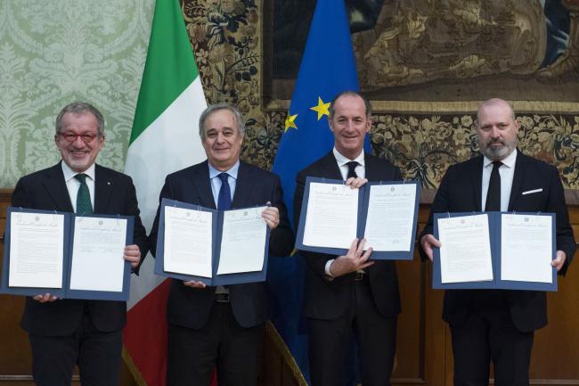 Autonomia: accordo preliminare con le Regioni Emilia Romagna, Lombardia