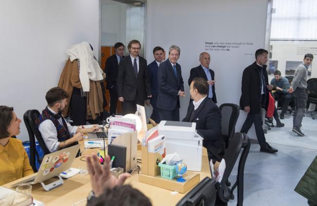 Il Presidente Gentiloni al Talent Garden Poste Italiane