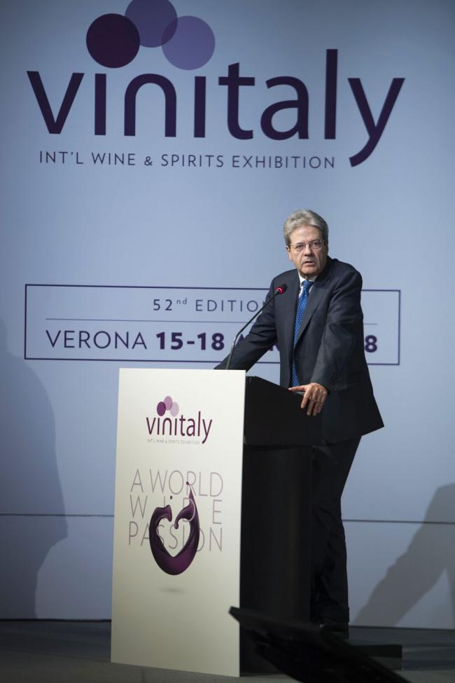 Il Presidente Gentiloni al Vinitaly