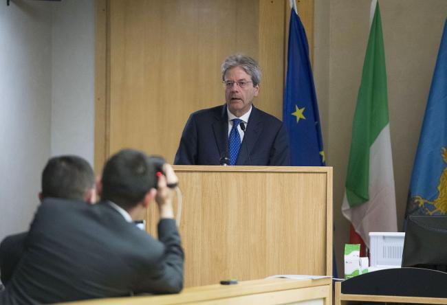 Il Presidente Gentiloni interviene al CRO di Aviano
