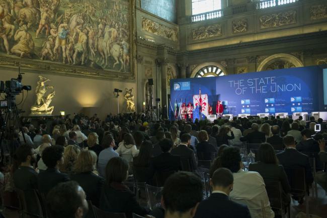 """Gentiloni alla conferenza """"The State of the Union"""""""