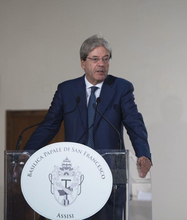 Il Presidente Gentiloni interviene ad Assisi
