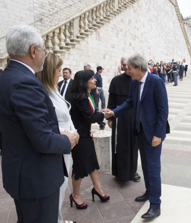 Il Presidente Gentiloni ad Assisi