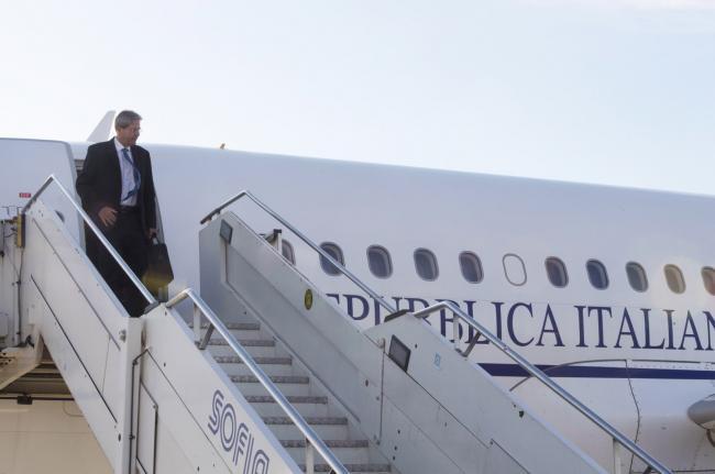 Gentiloni al suo arrivo a Sofia