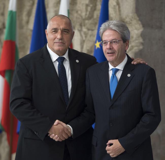 Vertice Ue - Balcani occidentali, Gentiloni con il Primo Ministro della Bulgaria