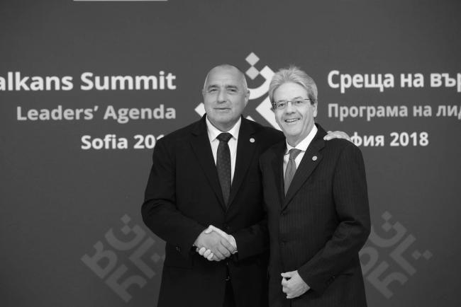 Vertice Ue - Balcani occidentali, Gentiloni con il il Primo Ministro della Bulgaria