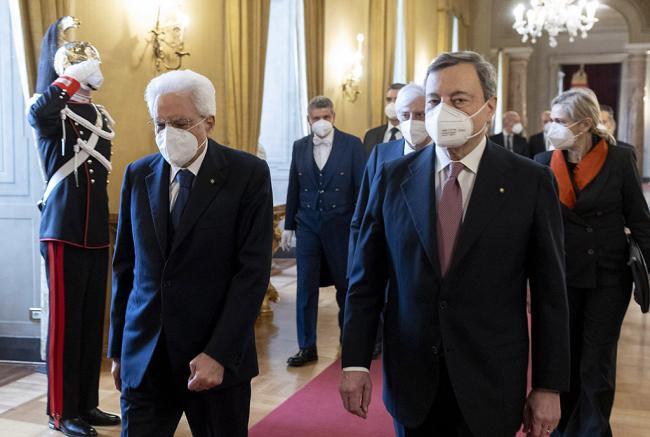 Il giuramento del Governo Draghi al Quirinale