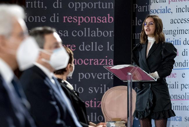Draghi al Quirinale per la Giornata internazionale della Donna