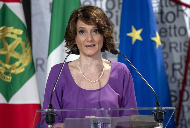 La Ministra per le Pari opportunità e la Famiglia, Elena Bonetti al Quirinale per la Giornata internazionale della Donna
