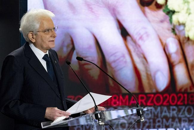 Il Presidente della Repubblica Sergio Mattarella al Quirinale per la Giornata internazionale della Donna