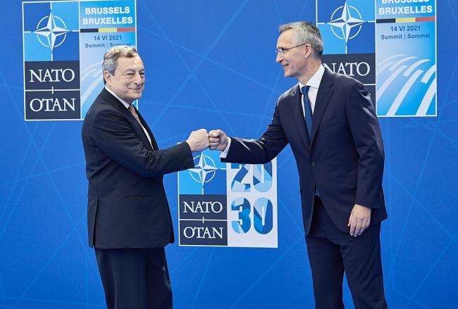Draghi al Vertice Nato di Bruxelles