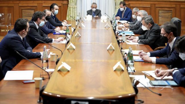 Il Presidente Draghi incontra la delegazione della Lega sul PNRR