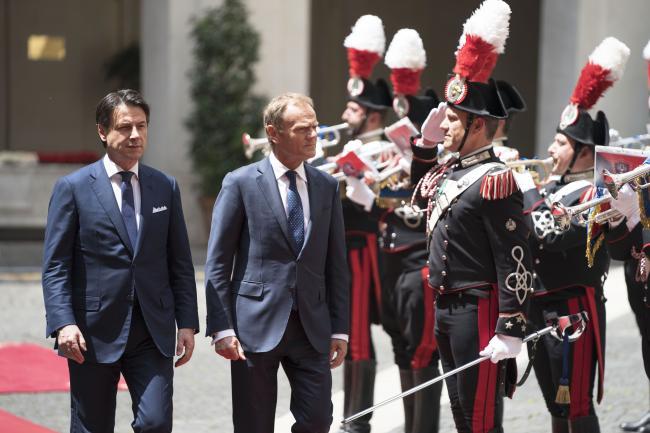 Conte incontra Tusk a Palazzo Chigi