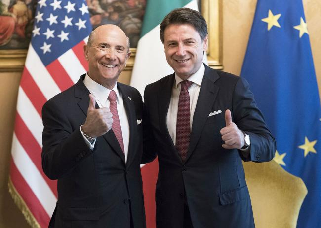 Conte riceve l'Ambasciatore degli Stati Uniti