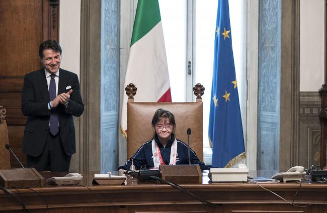 Il Presidente Conte con gli Atleti Special Olympics a Palazzo Chigi