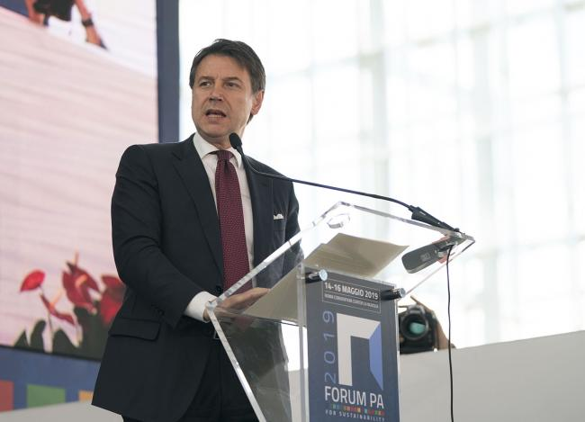 Il Presidente Conte al Forum PA 2019