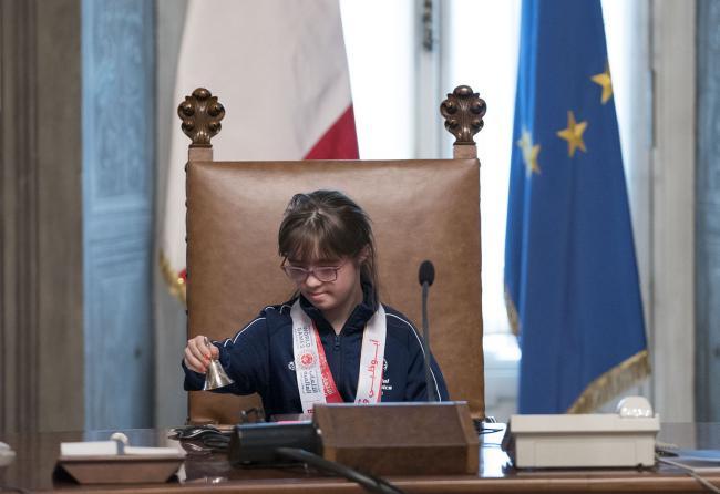 Martina, AtletaSpecial Olympics, a Palazzo Chigi