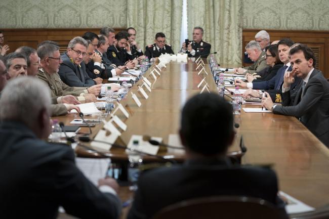 Incontro del Presidente Conte con i delegati della Rappresentanza dei Militari