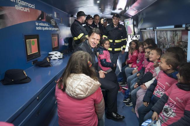 Conte a Frascati per la quinta tappa del Giro d'Italia